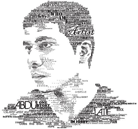 typography self portrait by renegade knight on deviantart