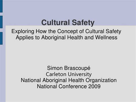 Cultural Safety Exploring How The Concept Of Cultural