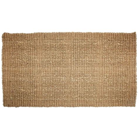 coconut doormat j m home fashions plain tile loop 18 in x 30 in woven