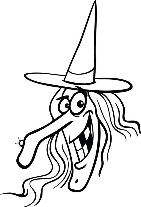 printable halloween witch coloring page  kids
