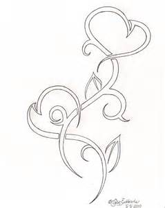 Tribal Pencil Heart Drawings