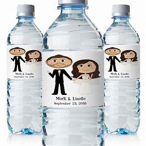 Wedding water bottle labels wedding bottle labels custom for How to put labels on water bottles
