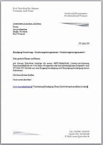 Kündigung Einer Wohnung : k ndigung versicherung k ndigungsschreiben vorlage muster beispiele ~ Yasmunasinghe.com Haus und Dekorationen