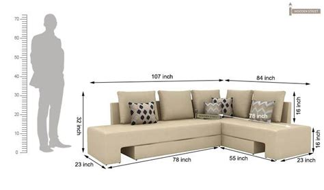 Buy Mckellen L Shape Right Arm Corner Sofa Cum Bed (ivory