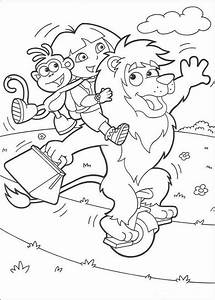 Dora playing with friends coloring pages - Hellokids.com