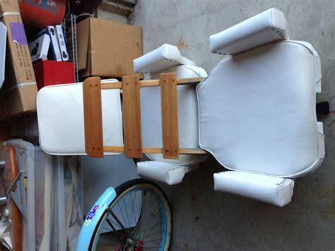 wtb teak ladder back helm chair the hull boating
