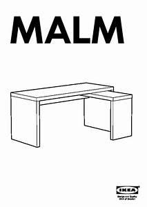 Ikea Table Appoint : malm bureau avec tablette coulissante blanc ikea france ikeapedia ~ Teatrodelosmanantiales.com Idées de Décoration
