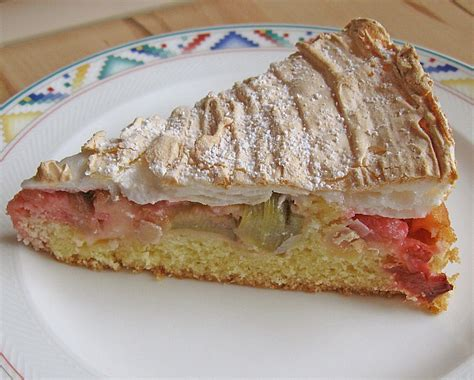 Rhabarber  Baiser  Kuchen Von Toskanaloewe Chefkochde