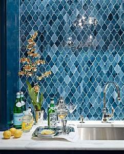 divine renovations moroccan tiles blues splashback With kitchen cabinets lowes with 3d printed wall art