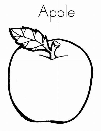 Apple Coloring Pages Letter Eat Anti Drawing