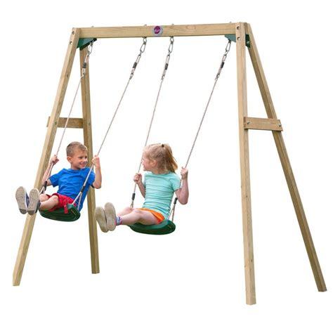 kid swing plum kid s wooden playground swing set buy swings