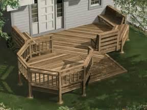 inspiring house deck plans 5 multi level deck designs and - Multi Level House Floor Plans