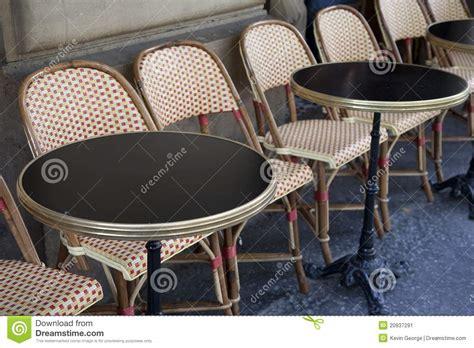 cafe tables paris stock image image