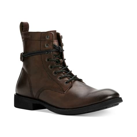 brown motorcycle boots for men lyst calvin klein jeans hewett 2 motorcycle boots in