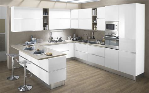 Cucina componibile bianco bianco lucido : Veronica DFCF