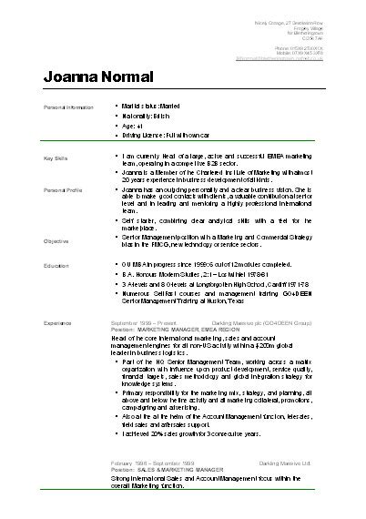 Resume Eg by 9 Exles Of Cvs For Students Pennart