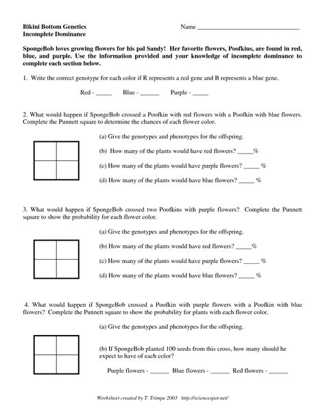 16 best images of incomplete and codominance worksheet answers incomplete and codominance - Incomplete Dominance And Codominance Worksheet