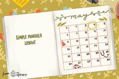 Bullet Journal Calendar Themes Planner Template Layout
