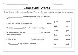 compound words by hitzz teaching resources