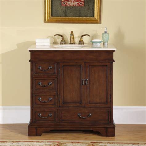 single sink bathroom vanity  marble counter