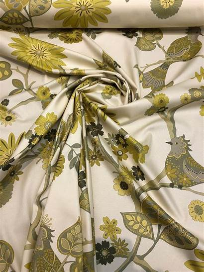 Fabric Richloom Yellow Drapery Yard Cotton Soprano