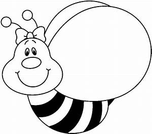 Cute bee clipart black and white free clipart images ...