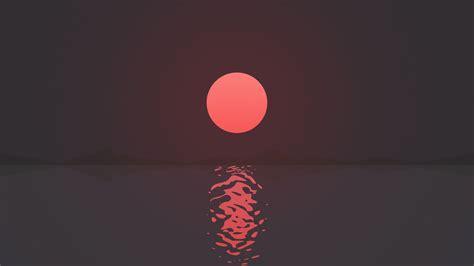 wallpaper artwork sun red  justjon