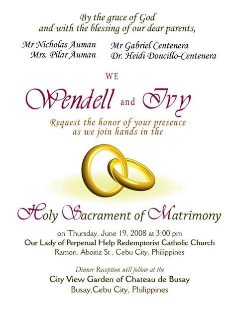 Invitation Letter Wedding Sample