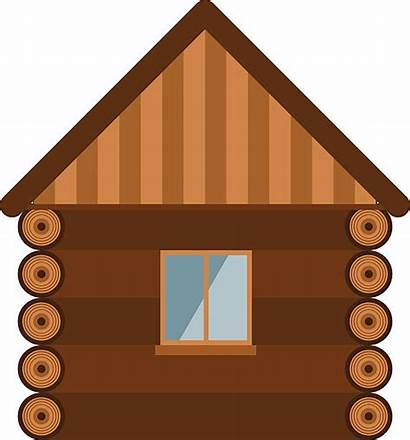 Vector Log Cabin Clip Wooden Wall Window