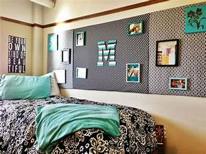 Turquoise dorm room at texas tech i used cardboard