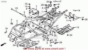 Honda Trx200 Fourtrax 200 1984  E  Usa Frame