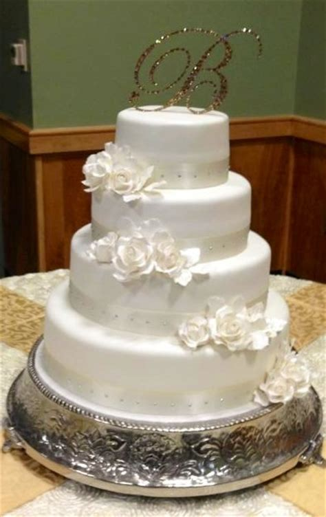 simple  elegant wedding cake weddingbee photo gallery