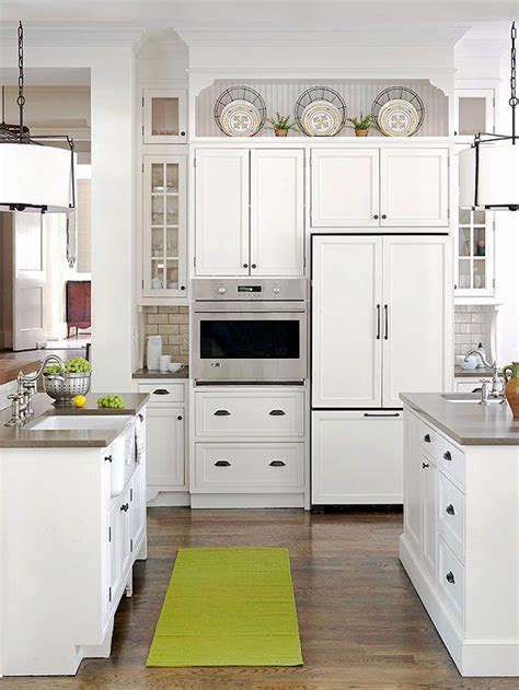 Wall lift cabinet kitchen craft cabinetry. Ideas for Decorating above Kitchen Cabinets | Decorating ...