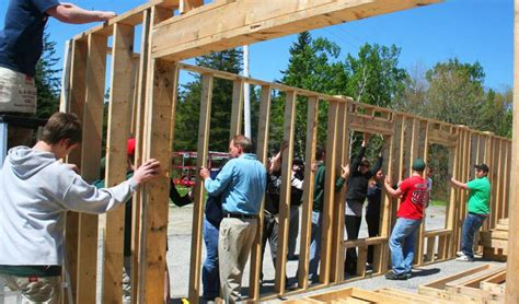 Build Help by High Schoolers Help Build Walls For Habitat For Humanity