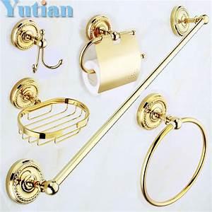 Bad Accessoires Gold : online kaufen gro handel gold bad set aus china gold bad set gro h ndler ~ Whattoseeinmadrid.com Haus und Dekorationen