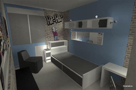 chambre d 39 ado sur le thème urbain