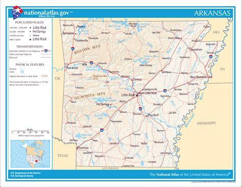 large detailed map  arkansas state arkansas state large