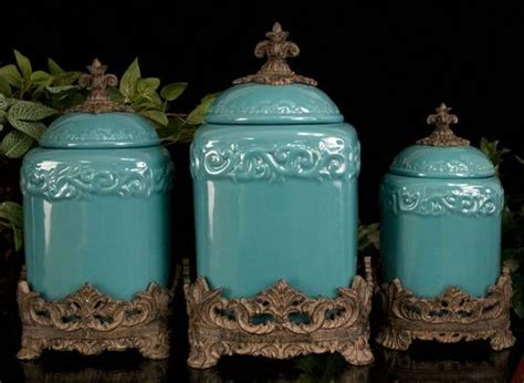 designer kitchen canister sets design turquoise canisters 195 look in my