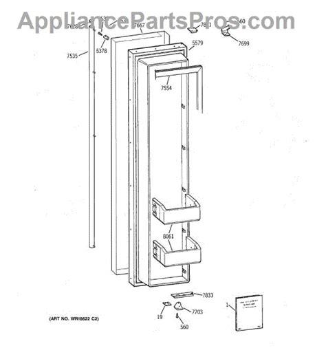 parts  ge zissncass freezer door parts appliancepartsproscom