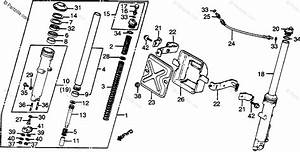 Honda Motorcycle 1982 Oem Parts Diagram For Front Fork