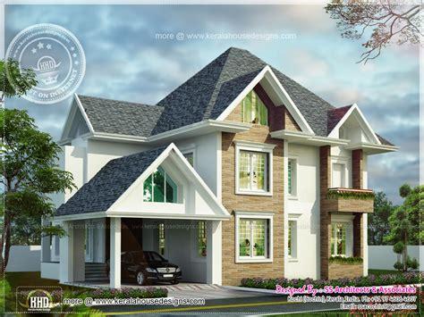 european home design european model house construction in kerala kerala home