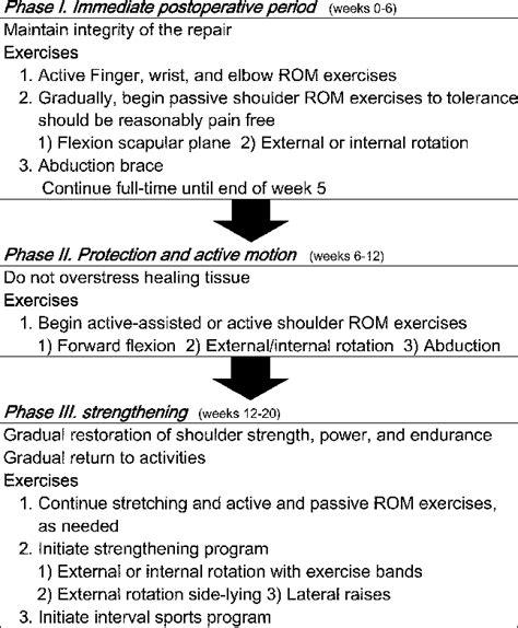Early rehabilitation protocol following arthroscopic ...