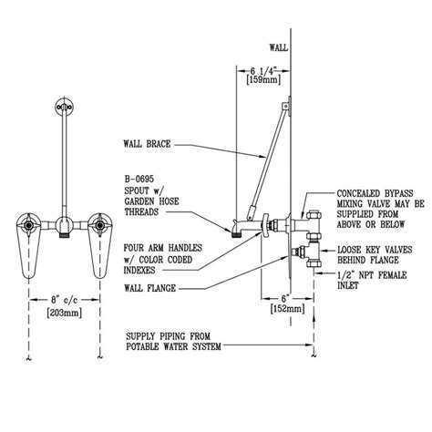 mop sink faucet dimensions mop sink faucet height