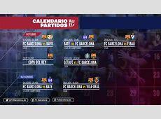 As datas e os horários do próximos jogos do FC Barcelona