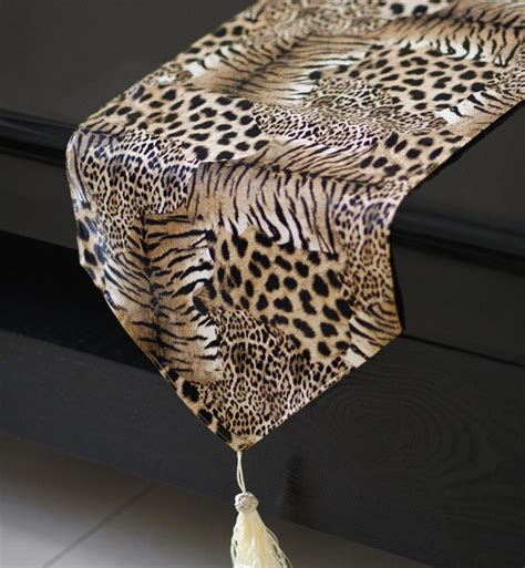 animal print table runners leopard table runner promotion shop for promotional