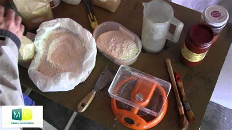 fabriquer peinture 224 la chaux