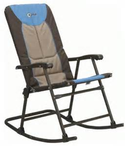 outdoor metal folding rocking chair padded seat portable patio cing rocker ebay