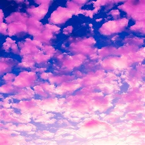 Pink clouds background ~ Beauty & Fashion Photos
