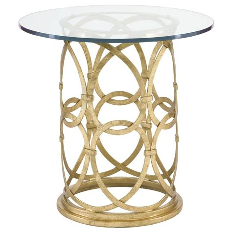 round metal end table antonia hollywood regency round gold metal side end table