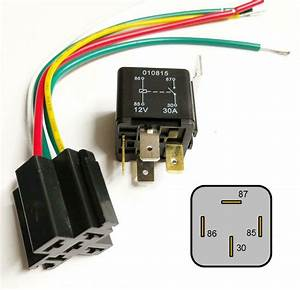 4 Pin 12v 30a Relay With Prewired Base For Protection